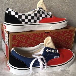 vans era mix match navy red multi9